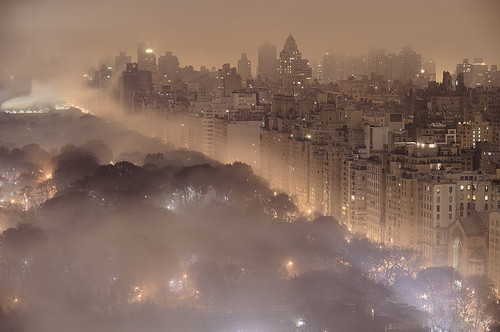 City,Fog,New yor