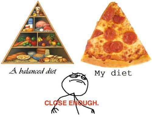 diets, funny, healthy, lol, pizza - inspiring picture on Favim.com