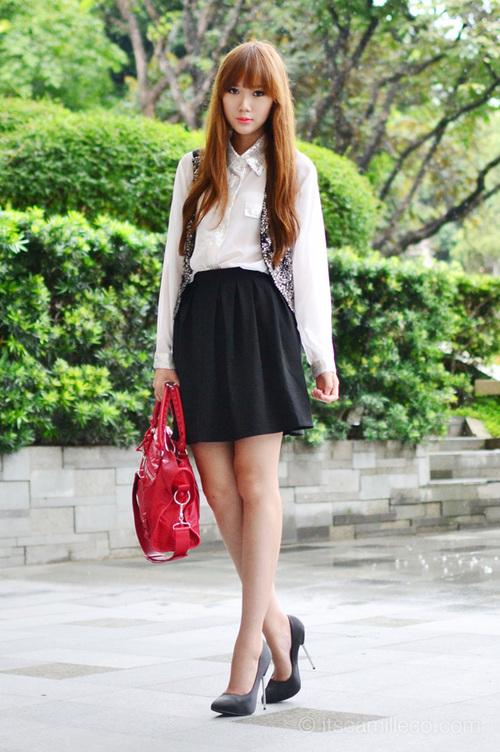 Adolescents sexy en jupes