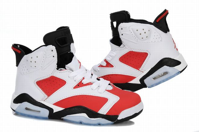 air jordan retro 6 red and white