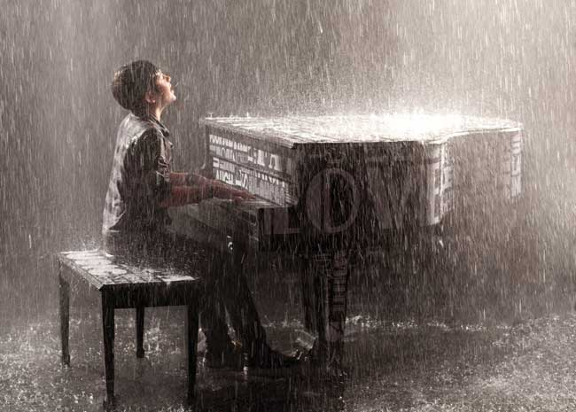 Image result for greyson chance piano in the rain