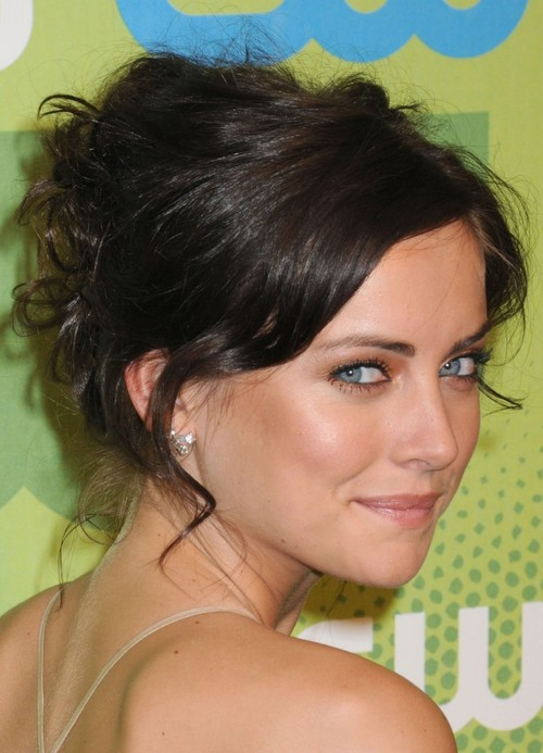 Messy Chignon Of Jessica Stroup large Top 10 Women Hairstyles for 2013