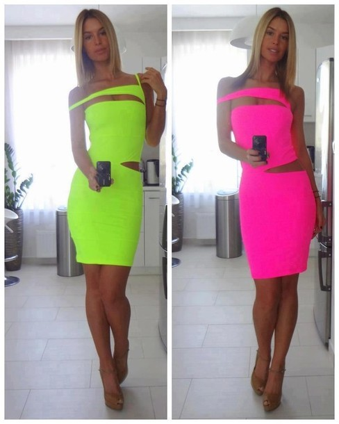 B83p06-l-610x610-cutout-sexy-dress-neon-dress-neon-pink-neon-green_large