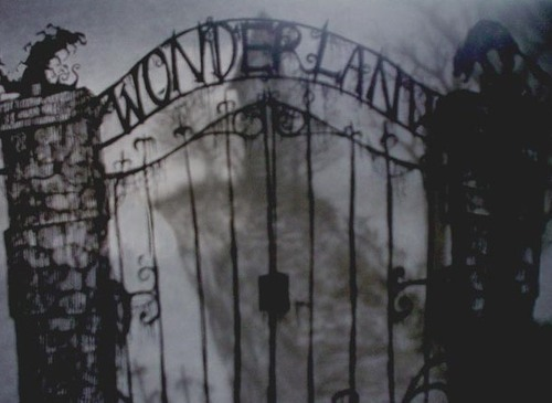 Description de Mystic Creek Alice-in-wonderland-back-and-white-creepy-eerie-fashion-Favim.com-343838_large
