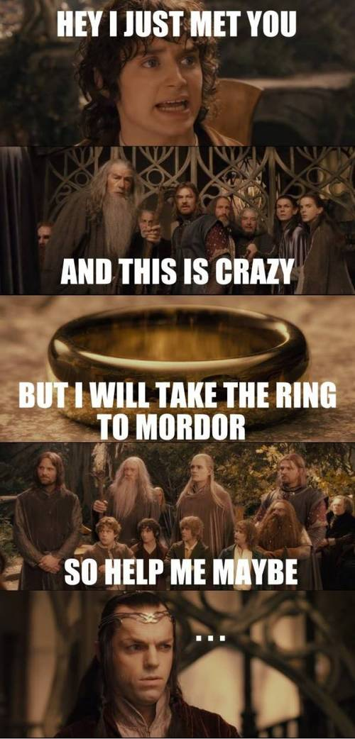 Lord of The Rings Awkwardness