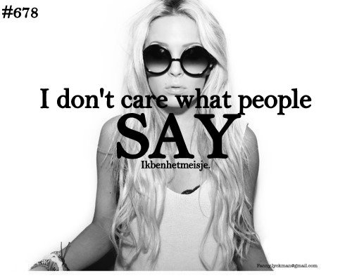 Twitter / Ikbenhetmeisje: I don't care.. http://t.co
