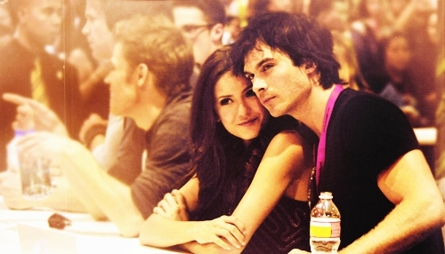 Nina Dobrev and Ian Somerhalder - The Vampire Diaries Picture