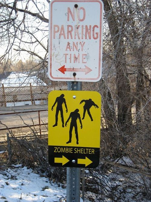 Unreality - A Photo Gallery of 15 Zombie Road Signs |