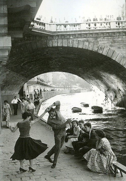 History Images / Rock and Roll sur les Quais, Paris, c1952 Paul Almasy (oh, good--have been looking for the source for this forever)