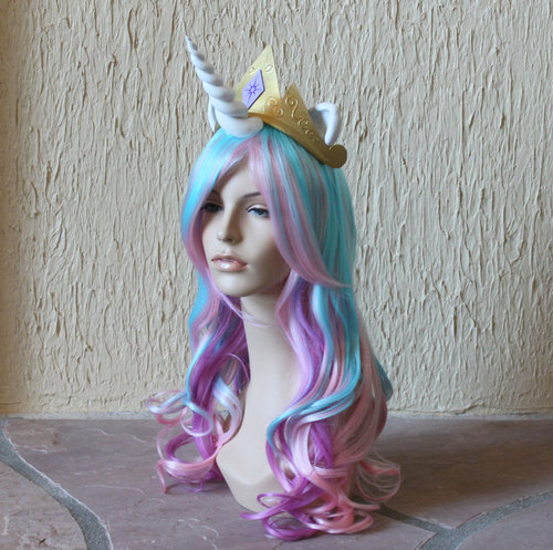 Princess Celestia costume cosplay wig blue purple by GimmCat