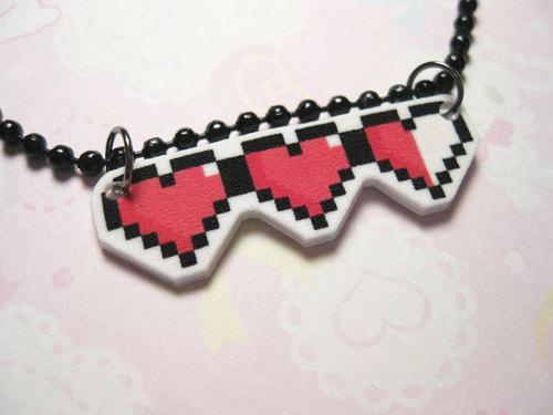 cute fashion heart kawaii necklace Favim.com 360077 large cute, fashion, heart, kawaii, necklace   inspiring picture on Favim.com
