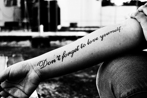 amazing, b&w, tattoo, text - inspiring picture on Favim.com