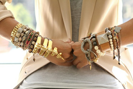 multi jewelry trendy | Up Today by Francesca Bertini
