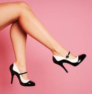"Bordello Shoes Tempt Two-Tone Maryjane in Black and White with 4 1/2"" Heel on Wanelo"