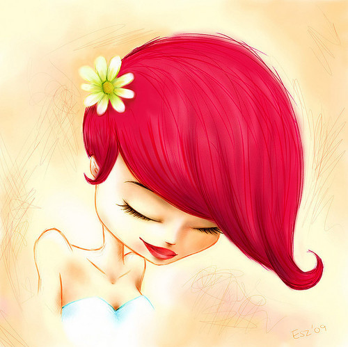 beautiful, cartoon, cute, female, girl, illustration - inspiring picture on Favim.com