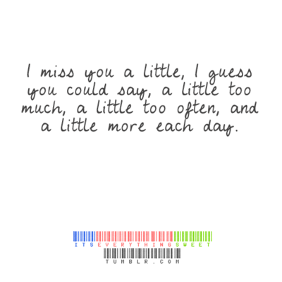 Love  Picture Messages on Miss You Quotes I Miss You A Little I Guess You Could Say Large