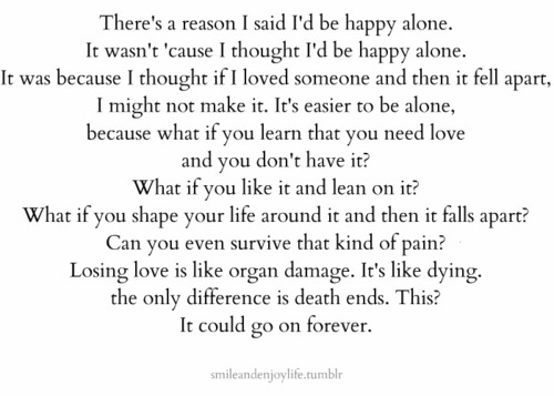 Alone But Not Happy Quotes Quotes Being Alone Tumblr
