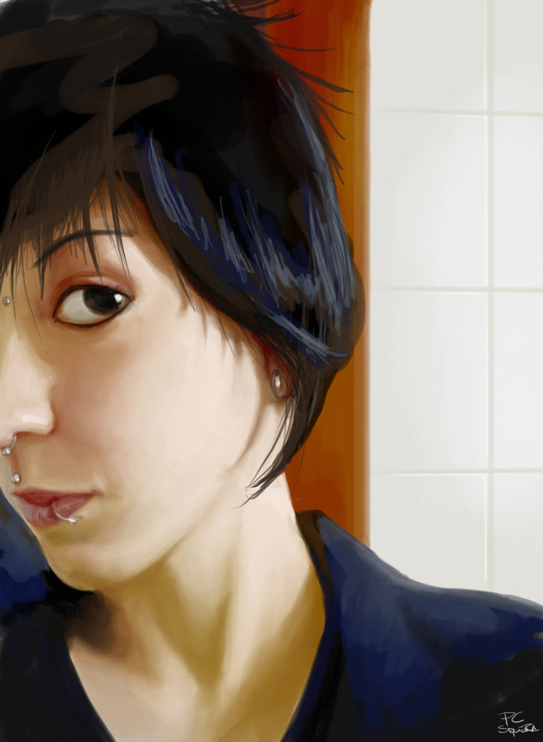 Painting of Heloisa <b>Dela Rosa</b> by *pcsiqueira   We Heart It   pc siqueira and <b>...</b> - original