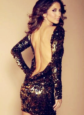 Gold Sequin Dress on Black And Gold Sequin Backless Dress   Love It So Much   We Heart It