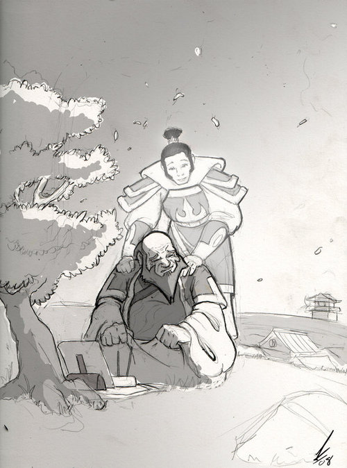Iroh, In Honor of Mako -sketch by *DarkKenjie on deviantART