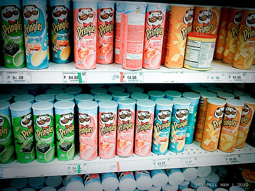 blonde, colors, food, photography, pringles - inspiring picture on Favim.com