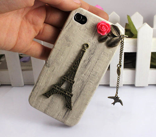 Eiffel TowerbirdIphone Case iPhone 4 Case iphone 4 by FingertipElf
