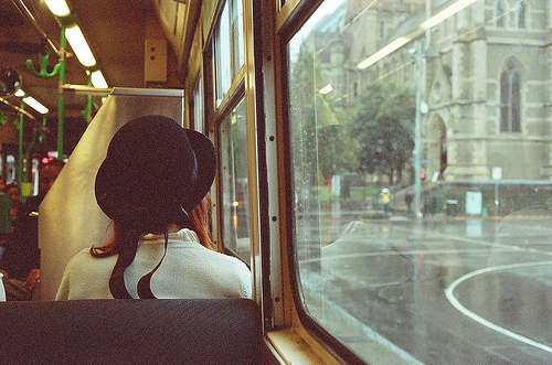 Bus,Girl,Hat,V