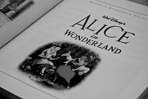 alice in wonderland, beautiful, black and white, book, boy - inspiring picture on Favim.com
