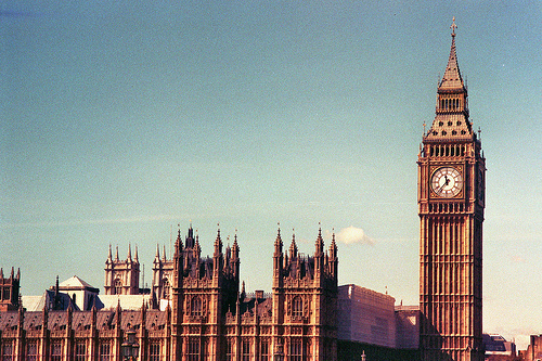 big ben, london, vintage - inspiring picture on Favim.com