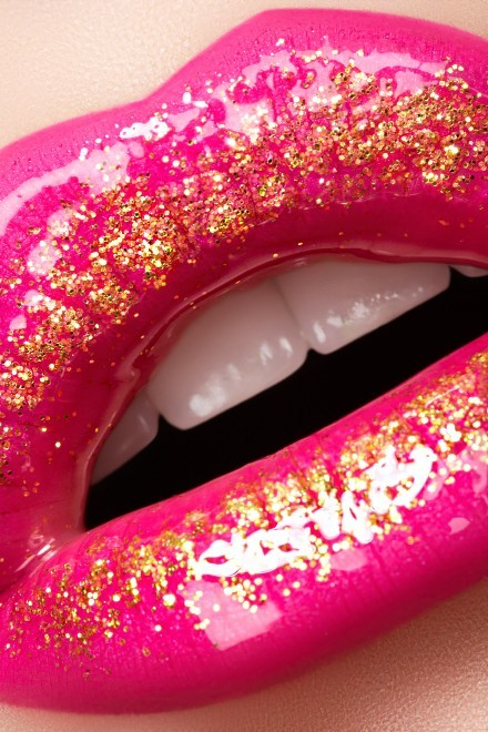 Make Me Up / pink & gold ! so glossy!