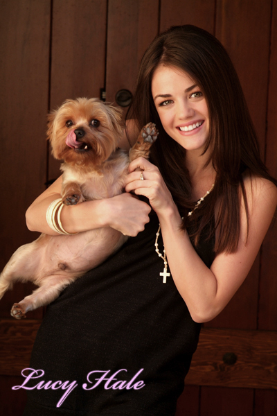 Photo of Lucy Hale & her Dog