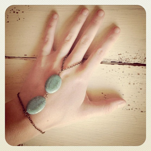 Turquoise Gypsy Bracelet by LittlePiecesofHope on Etsy