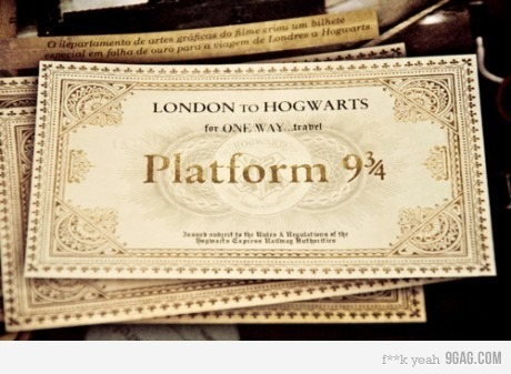 harry potter, hogwarts, london, plataform 9 3/4, ticket - inspiring picture on Favim.com