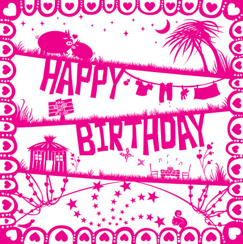 Birthday Card Design for my girl friend on the Behance