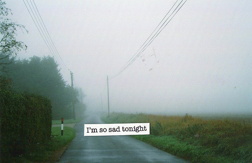 landscape, quote, sad, tonight, vintage - inspiring picture on Favim.com