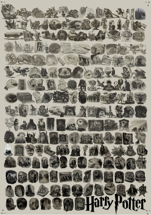 Harry Potter Chapter Art: Every Illustration In One Image (LOOK)