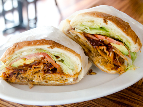 A Sandwich a Day: Pierna Torta at De Mole in Astoria | Serious Eats : New York