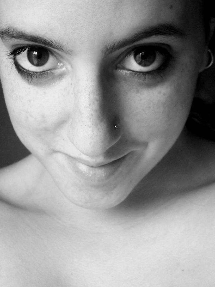 Mafalda Sofia Casas   We Heart It   black and white, nose piercing, and b&w - original