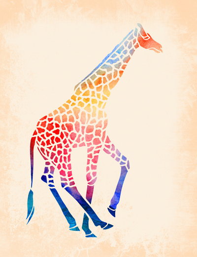Watercolor Giraffe Art Print by Jacqueline Maldonado | Society6