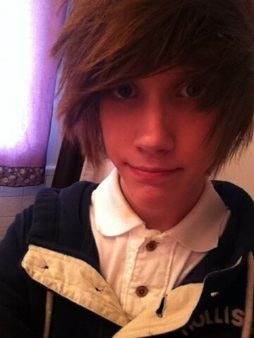 scene guys tumblr we heart it brown hair smile and