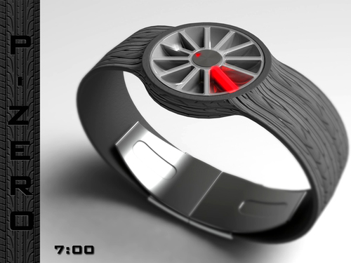 P-Zero Petrol-head LED Watch Concept by Peter Fletcher