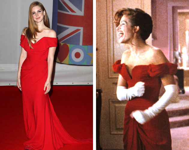 Lana Del Rey channels Julia Roberts's red dress from ...