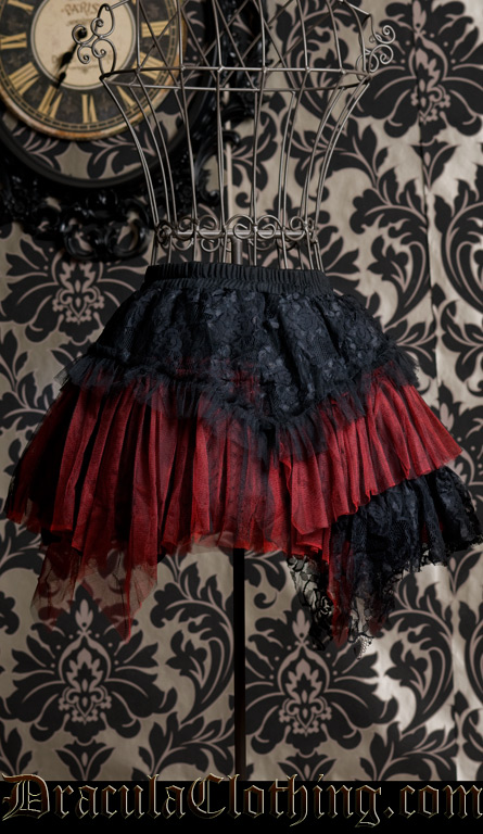 Black And Red Skirt by DraculaClothing | WHI