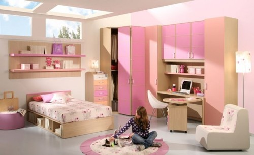 15 Cool Ideas For Pink Girls Bedrooms | DigsDigs on we heart it ...