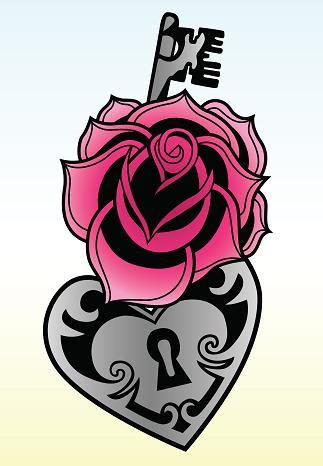 Rose-key-tattoo-design_large