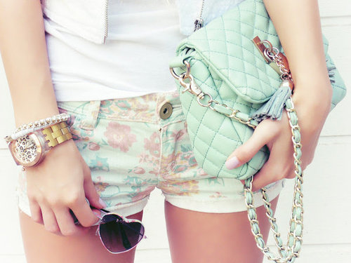 Patricia Varela's Decalz: Floral Shorts | Lockerz