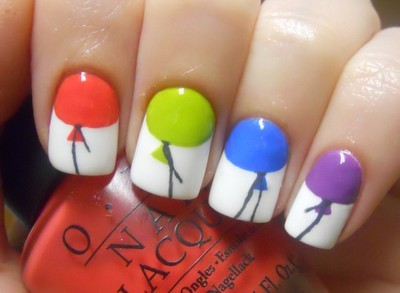 Nail Art / Balloon nails! :)