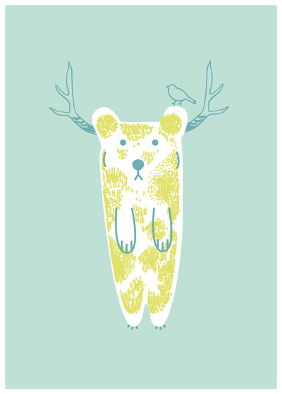 Sweety bear Art Print by Colomina Maevi | Society6