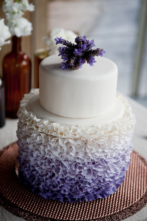 Purple-ombre-ruffle-fondant-wedding-cake-with-lavender-topper-3_large