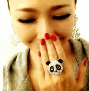 Cute-panda-ring-cute-diamond-lovely-style-free-shipping_large